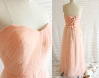2017 Blush Wedding dress,Blush Bridesmaid dress,Blush Prom dress,Blush Formal dress,Peach Bridesmaid Dress New Arrive
