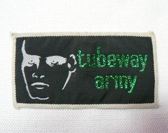 Vintage Late 70s Deadstock Tubeway Army / Gary Numan - Green Glitter Logo Patch