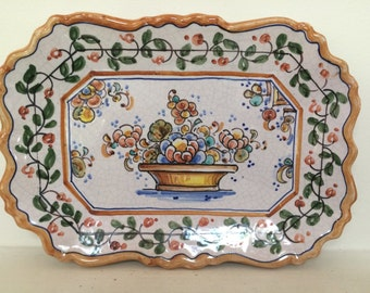 Spanish Hand Painted Decorative Plate -