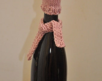 Hat and Scarf Wine Bottle Topper set