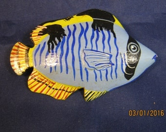 FISH BROOCH BLUE And Yellow
