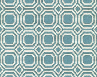 Teal Modern Geometric Upholstery Fabric By The Yard - Blair - Geometric Upholstery Fabric - Contemporary Upholstery Fabric - Teal Upholstery