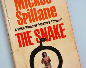 1960s Mike Hammer Mystery Thriller The Snake By Mickey Spillane