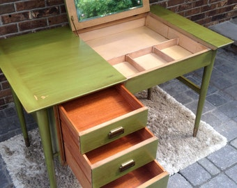 SOLD!!  Desk/vanity and chair by Landstrom furniture