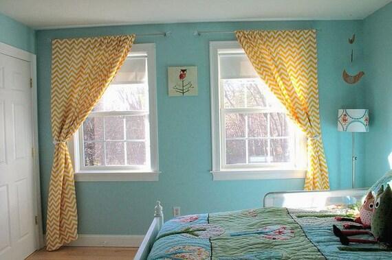 Items Similar To Beautiful Bold Modern Chevron Curtains Long Panels Rod Pocket On Etsy