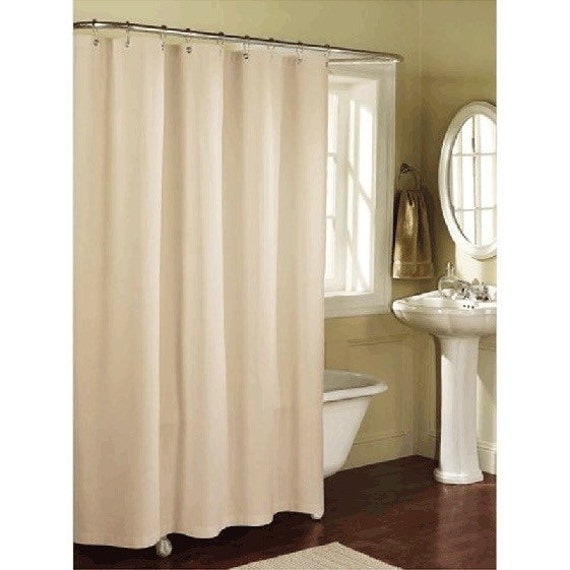 beautiful linen blend shower curtain standard size by zahrazart. Black Bedroom Furniture Sets. Home Design Ideas