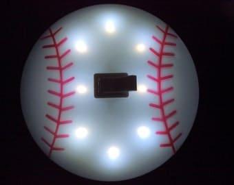 A Round Baseball Night Light.
