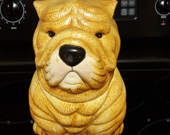 Bull Dog Cookie Jar