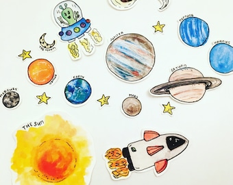 Outer Space Stickers