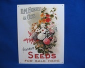Vintage – Tin Sign – Seeds - D.M.Ferry & Co's  Standard Seds