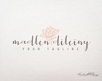 Lotus flower logo, Photography logo, Spa logo design, Flower logo design, Handwritten logo, Elegant logo design, Sophisticated logo 407