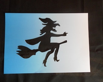 Stencil Halloween witch