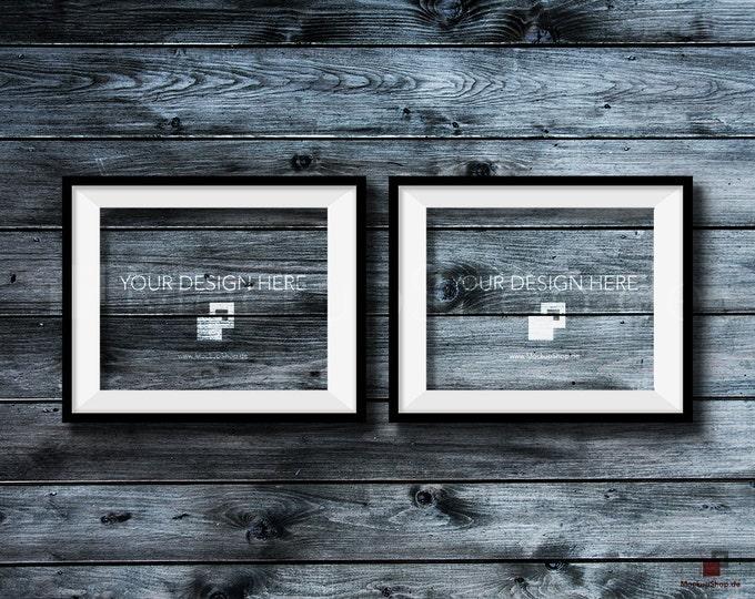 BLACK FRAME MOCKUP, 8x10, Set of 2, Empty Mockup Frame, Black Frame Mock-Up, Digital Frame Mockup for download, Frame Mockup, Download File