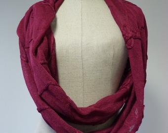 Magenta linen long scarf. Delicate and feminine.