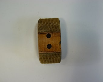 Handmade 2 hole wooden-copper button. One-of-a-kind.