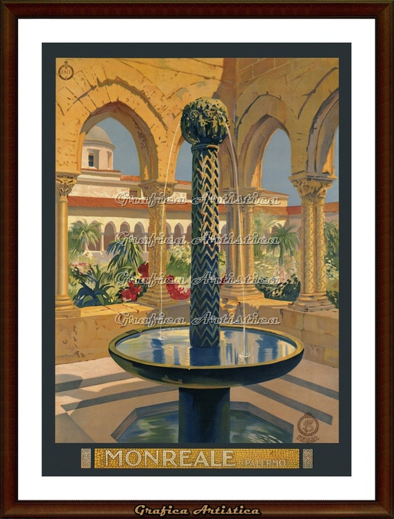 Monreal Sicily Italy Poster