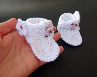 "Crochet Baby flip flop sandals, Summer sandals, Baby sandals, Custom baby shoes, Fashion baby, Baby accessories - Up to 8 cm (3.1"")"