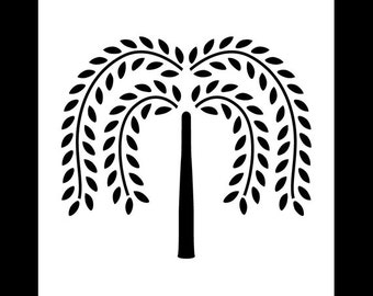 Primitive Willow Tree - Art Stencil - Select Size - STCL1130 by StudioR12
