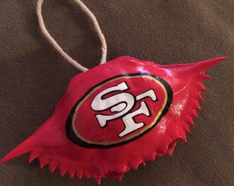 San Fransisco 49ers Crab Shell Ornament