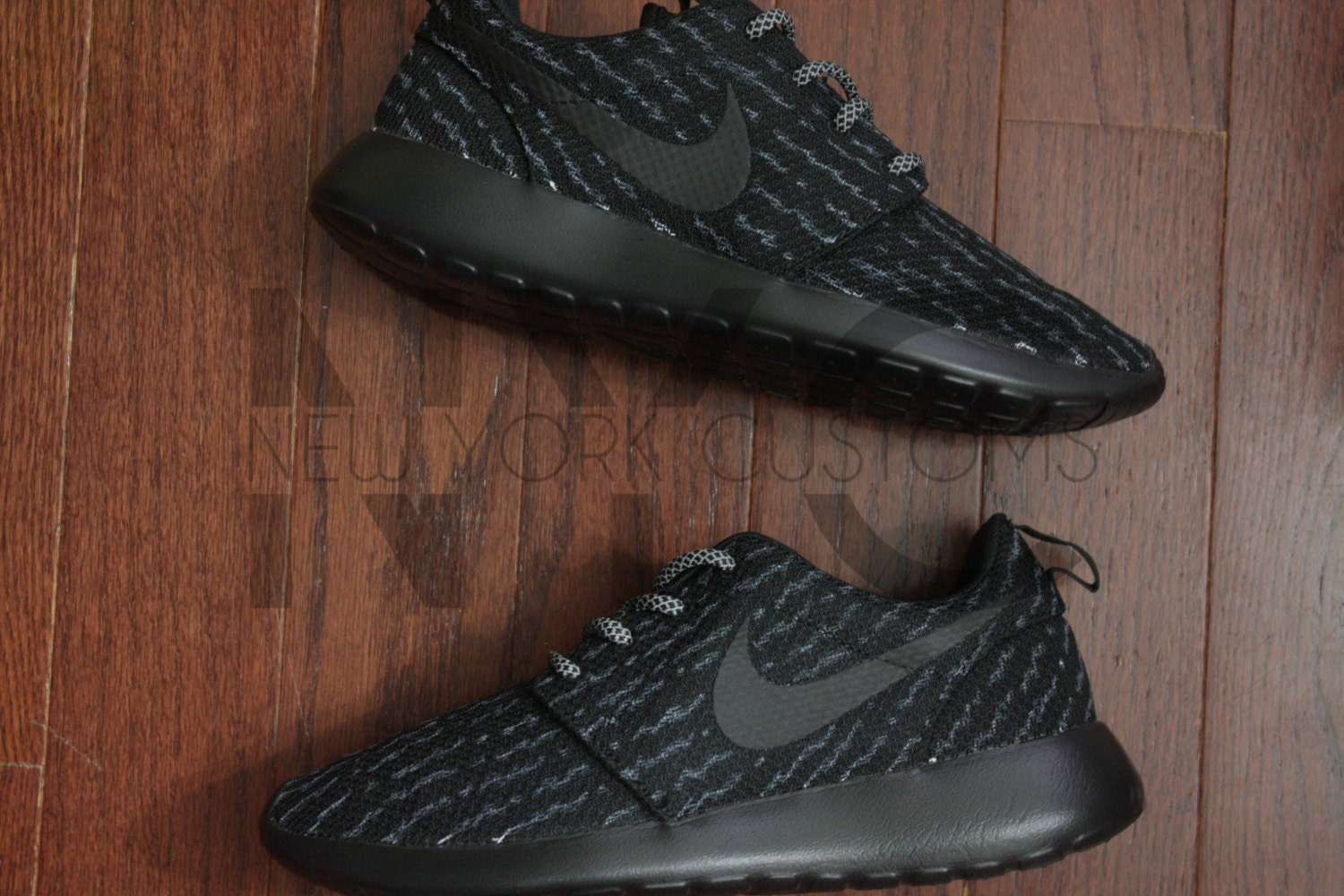 Details about Nike Roshe Run Running Training Shoe Black Gold Grey Women's US 10 511882 070