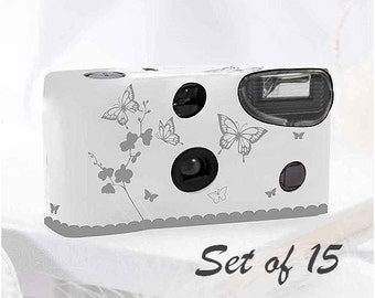 Disposable Butterfly Print Cameras - Set of 15 - Party Favor - Butterfly - Garden - Butterfly Cameras - Photo Booth - Party - Butterflies