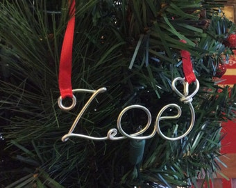 First Christmas Personalized Ornament,Zoe ornament