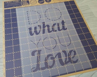 "A4 Wording Stencil ""Do what you love"""