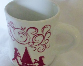 Vintage Heavy Chtistmas  Mug Design Pac Inc. Melrose Park