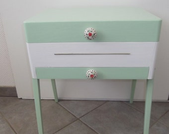 Old sewing box sewing table with drawers