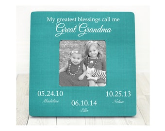christmas gift for great grandma grandma frame grandmother grandparents our greatest blessings great grandma gift great grandma frame