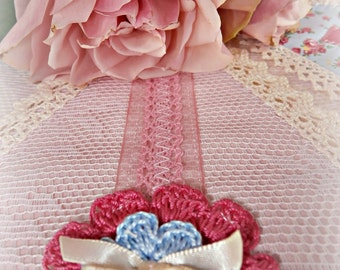 A Deluxe Personalized Bunting Blue/pink Vintage Theme/Lace/Baby Girls bunting/Baby Shower/Nursery Decor/ChristeningNaming ceremony/Gift Idea