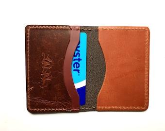 Leather Card Holder - Handmade in UK - Oyster Card Holder