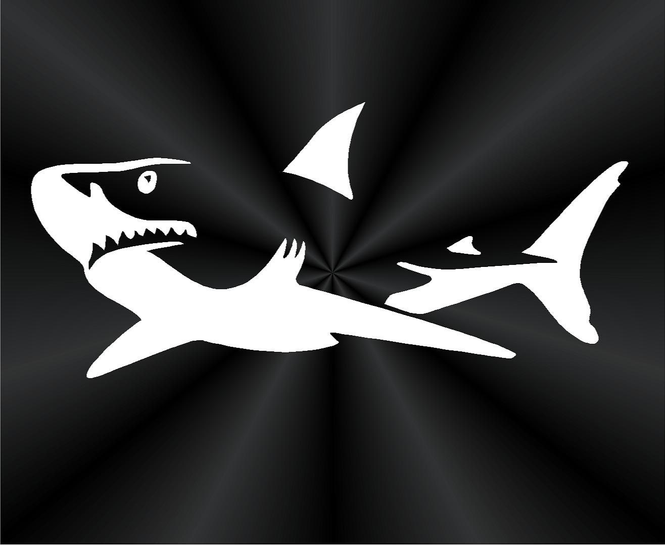 Shark decals great white shark fish fishing boat tablet zoom amipublicfo Choice Image