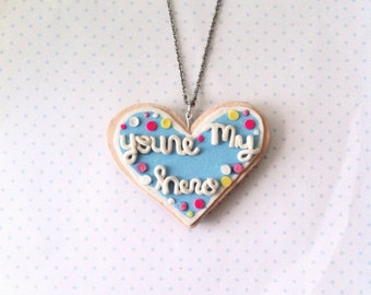 You're my hero cookie necklace, wreck it ralph, polymerclay