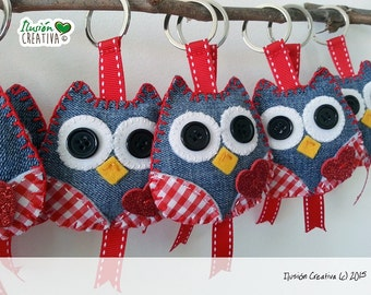 OWL-shaped keyrings