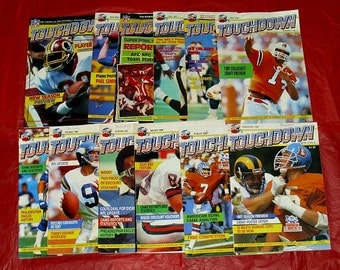 Touchdown American Football  Magazine Vintage NFL Sport Memorabilia Collectable Magazines Collection Issues 1985 1986 1987 1988 NFL US Sport