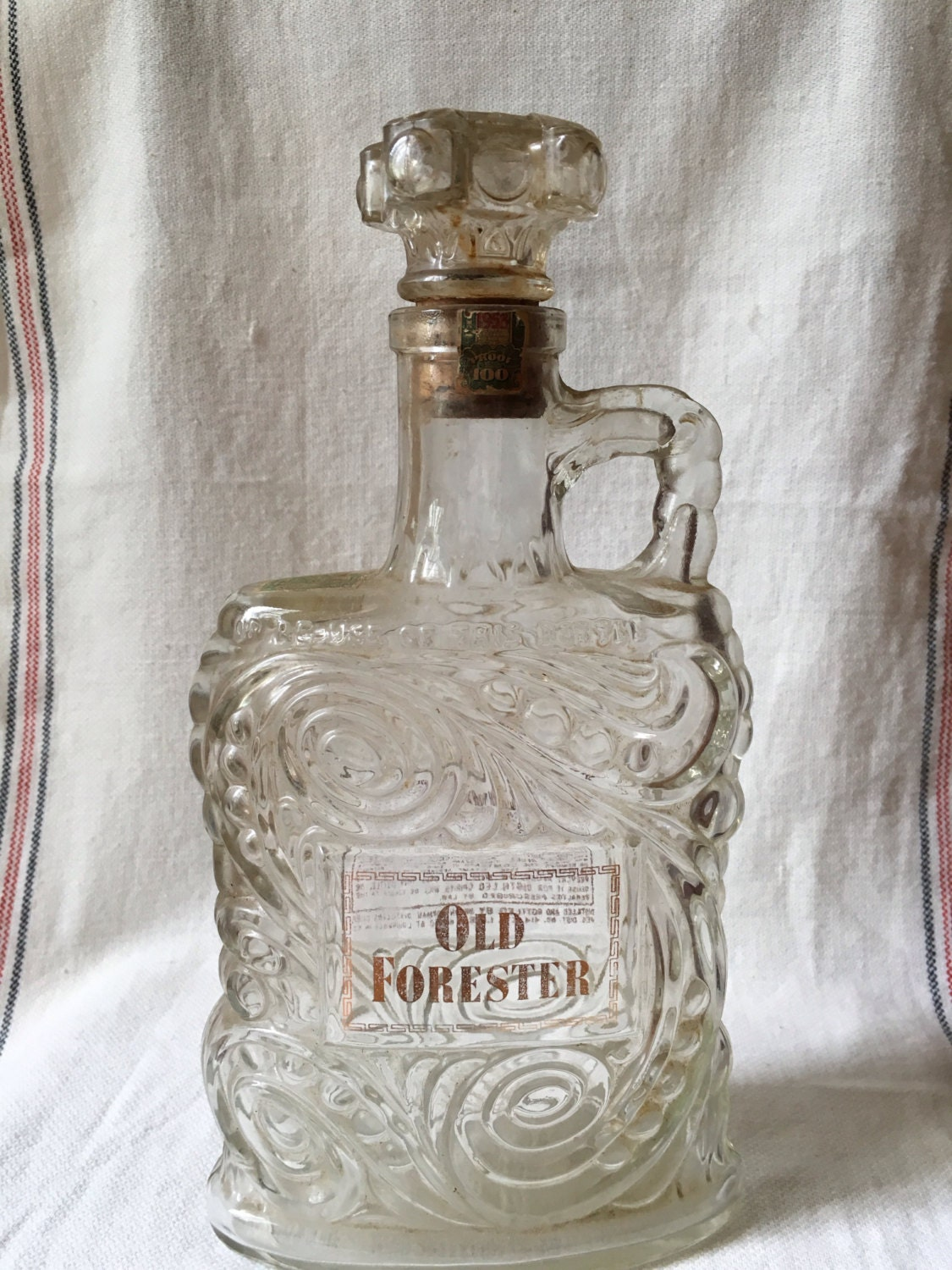 old forester whiskey bottle 1953. Black Bedroom Furniture Sets. Home Design Ideas