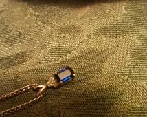3/4 carat sapphire necklace with diamonds (September birthstone) SALE: originally 115.00
