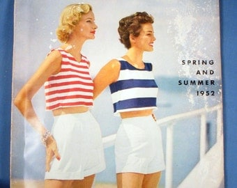 Vintage Vogue Knitting Book - Spring and Summer 1952