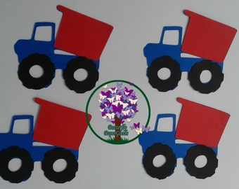 Dump  Truck die cut, Transportation die cut, Construction party decor, Boy Birthday, Party and Shower Decorations