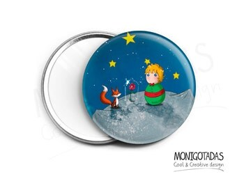 """Mirror inspired by """"The Little Prince"""" /  Pocket mirror"""
