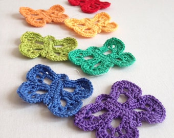 ON SALE. Crochet Butterfly Rainbow string. Butterfly home decor.