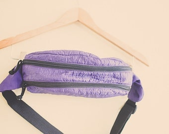 Vintage 80's Fanny Pack Purple  Sport with Zipper and Pocket Hipster Fannie Pack Bum Bag Rave Festival Wear Club Kid