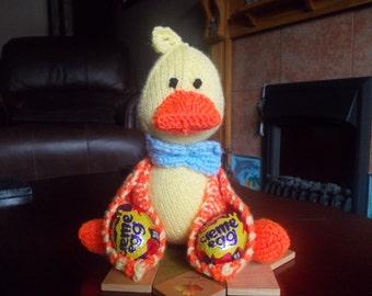 Hand knitted Easter egg chick, easter, easter gift, chick, egg hunt