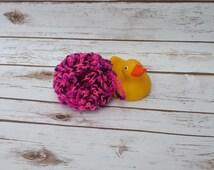 Crochet Bath Poof, Crochet Bath Pouf, Pink Bath Puff, Black Body Loofah, Crochet Shower Puff, Body Bath Sponge, Crochet Loofah, Crochet Puff