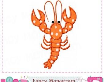 Lobster applique,Lobster embroidery,Lobster design,Lobster.-16