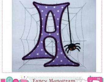 Spider Monogram A applique,Halloween Letter A applique,A,Font A,Spider design,A,Spider web,Spider applique,Halloween,Spider embroidery.-02