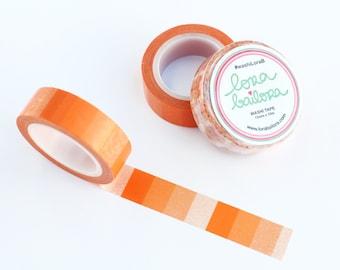 Washi tape Ombre Orange 15mm x 10m