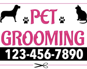 Pet Grooming Banner sign poster 3 x 2 FT