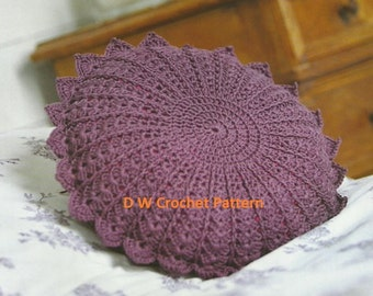 PDF Round Petal Crochet Cushion Pattern